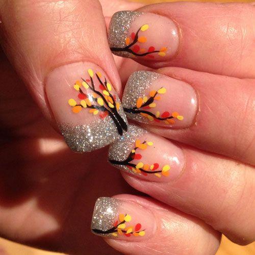 45 Thanksgiving Fall Nail Color Ideas 2020 Guide Fall Nail Art Designs Thanksgiving Nail Art French Tip Nail Art