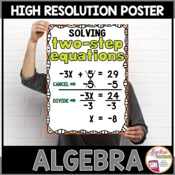 "High Resolution Image for 11x17 or larger poster size printing.  You can have your poster professionally printed at your local office supplies store with printing services or through any online printing service. I print mine through VistaPrint.com (no affiliation) at affordable prices.Other individual posters you may be interested in:Absolute Value EquationsAbsolute Value Inequalities ""Or""Absolute Value Inequalities ""And""Compound InequalitiesEquations with Variables on Both SidesExpressions…"