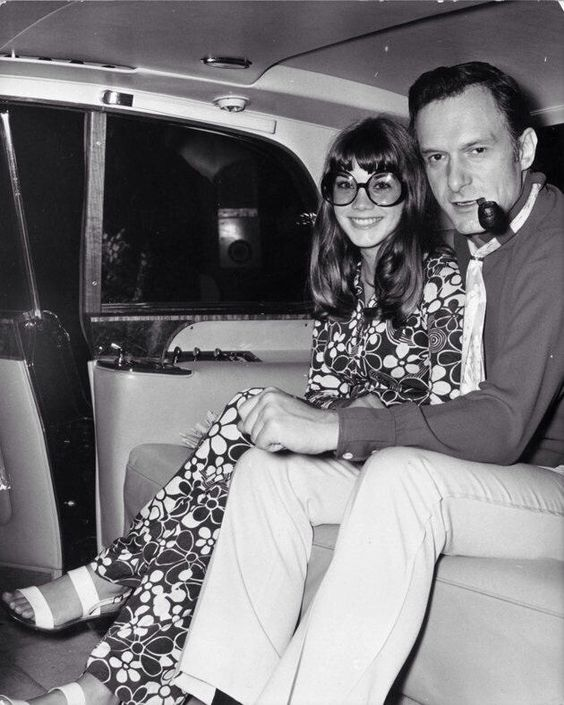 Hugh Hefner with his girlfriend Barbi Benton in the late 1960s