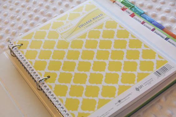 blogging binder ideas. love this notebook print.