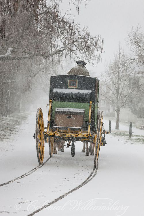 Williamsburg - The Carter Coach - A cold ride during a snow storm: