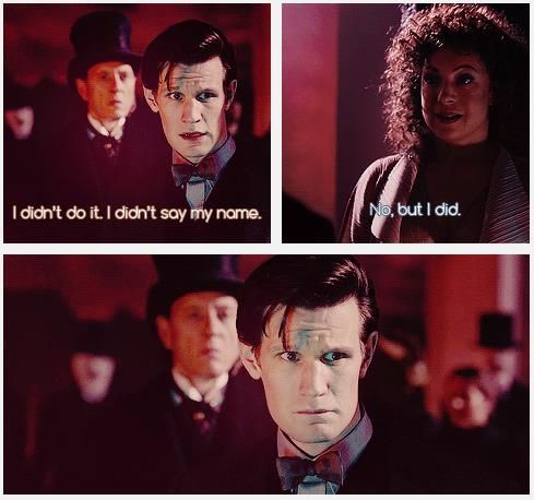"""The Doctor: """"Now then, Doctor Simeon, or Mister G Intelligence, whatever I call you, do you know what's in there?"""" Simeon: """"For me, peace at last. For you, pain everlasting. Won't you invite us in?"""" S7E13: The Name of the Doctor. [gifs]"""