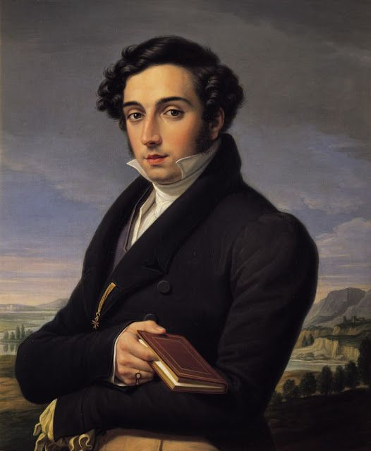 Portrait of Marcantonio Saracini, 1826 by Pietro Benvenuti (Italian 1769-1844) Oil on canvas.....the Saracini where an aristocratic family from Sienna who once owned the 12th century Palazzo Chigi-Saracini in Siena....: