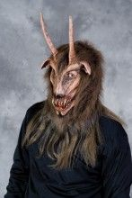 Deranged Goat Halloween Mask.