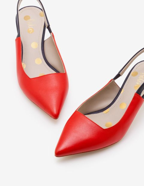 These Kitten Heel Slingbacks Will Bring A Pop Of Joy To Every Outfit Combining Contrasting Colourblocking With A