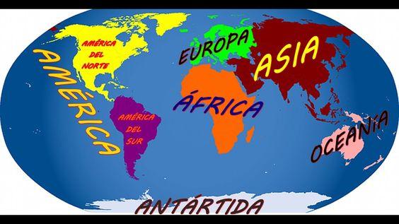Los Continentes Y Oceanos Que Es Un Continente Y Cuales Son Continentes Y Océanos Los Continentes Del Mundo Continentes