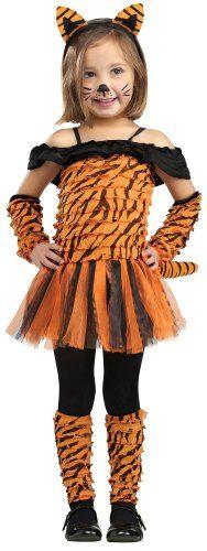 Girl's Tiger Halloween Costume - Tigress #tiger #costumes #dressup