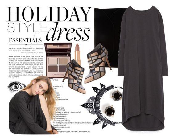 """Holiday Style: Oversized Dress"" by reem-hamed ❤ liked on Polyvore featuring Charlotte Tilbury, GE, Kate Spade, John Lewis, Zara, Via Spiga, holidaystyle and oversizeddress"