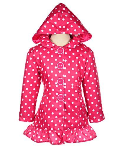 "Pink Platinum ""Absolutely Dotty"" Raincoat (Sizes 4 - 6X)"
