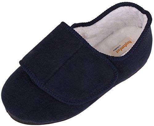 EEE Wide Fit Velcro Slipper Boot