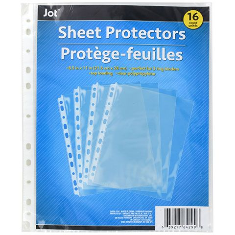 Jot 11 Hole Clear Plastic Sheet Protectors 16 Ct Packs Clear Plastic Sheets Plastic Sheet Protector Sheet Protectors