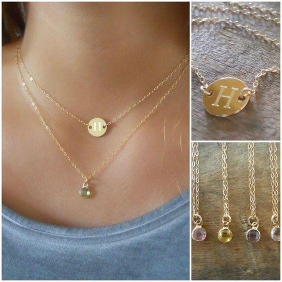 Personalized Necklace Set Layered Gold Necklaces By