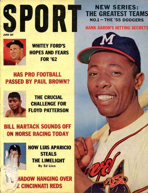 Sport Magazine June 1962 Hank Aaron Cover