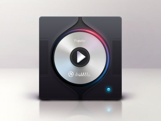 "Front page for ""radio"" player - by Liushui 