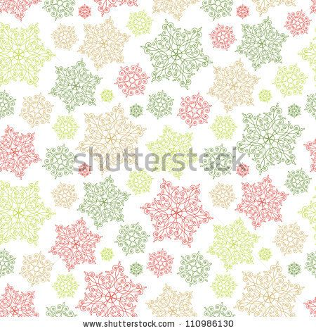 stock vector : Vector background with vintage snowflakes. Seamless pattern for your design wallpapers, pattern fills, web page backgrounds, surface textures.
