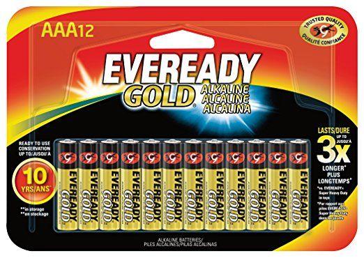 Eveready Gold Aaa Batteries Alkaline Triple A Battery 12 Count A92bp 12 Aaa Batteries Batteries Charger Accessories