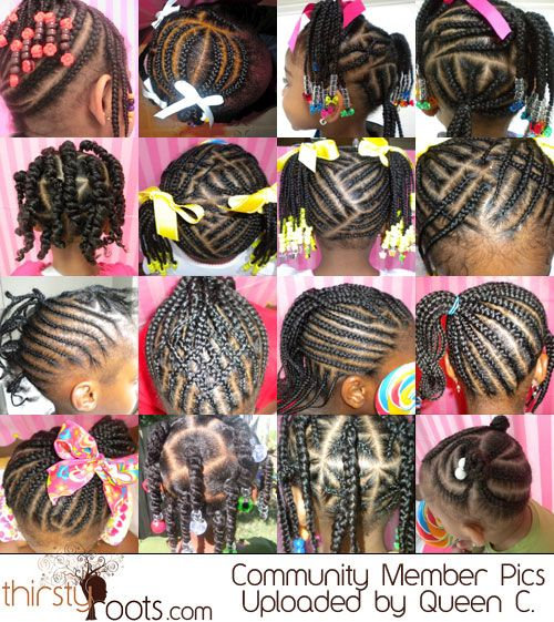 Phenomenal 1000 Images About Little Black Girls Braid Styles On Pinterest Short Hairstyles For Black Women Fulllsitofus