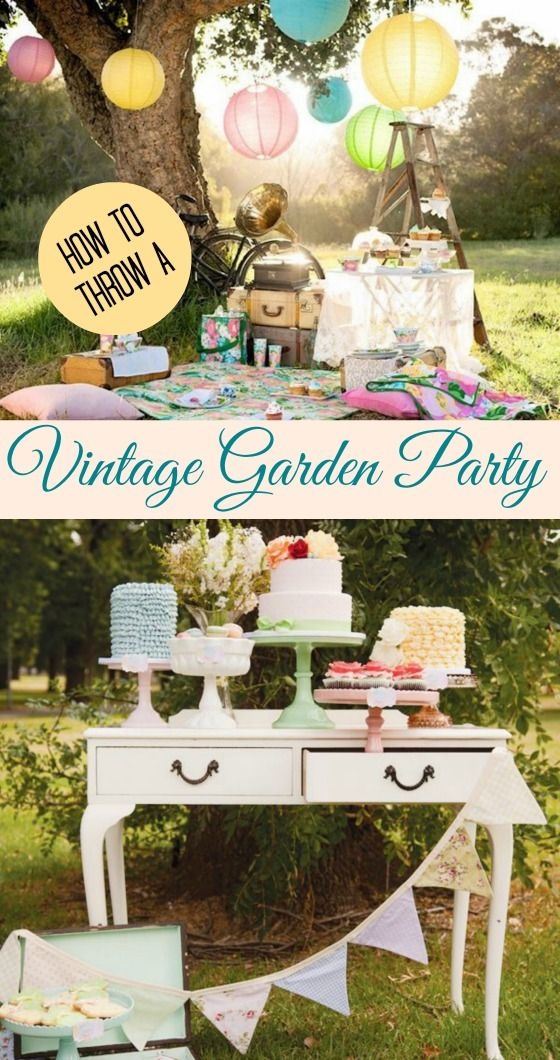 Are you hosting a bridal or baby shower this summer? Why not go with a vintage garden party? Click through for some lovely inspiration! #vintage_garden_party #vintage_wedding #vintage_shower