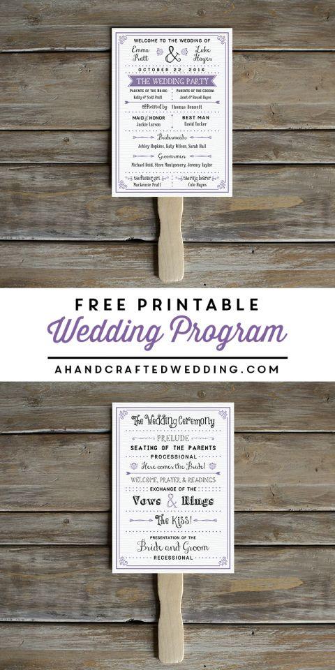 free printable wedding program free wedding invitation templates free wedding invitations and. Black Bedroom Furniture Sets. Home Design Ideas