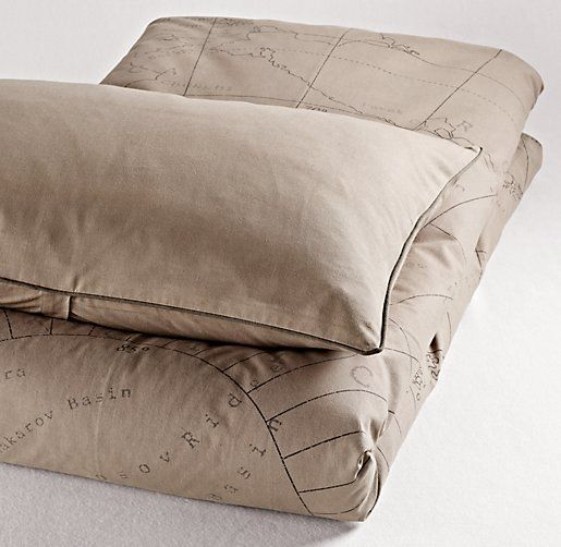 Atlas print duvet cover duvet covers shams for Duvet covers restoration hardware