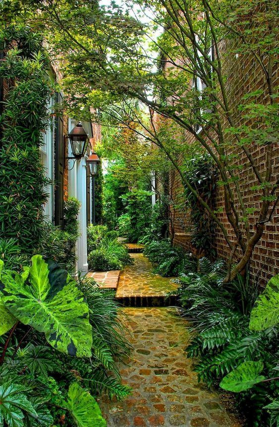 Admirable Small Backyard Ideas For Your Reference Decortrendy Side Yard Landscaping Narrow Garden Landscape Design