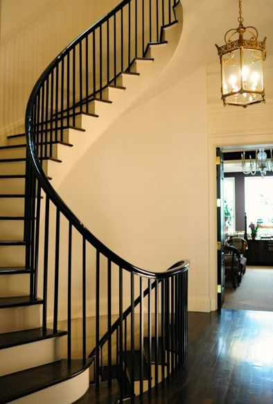 Perfect Swooping Spiral Staircase In An Upper East Side Townhouse By Atelier,  Inc.