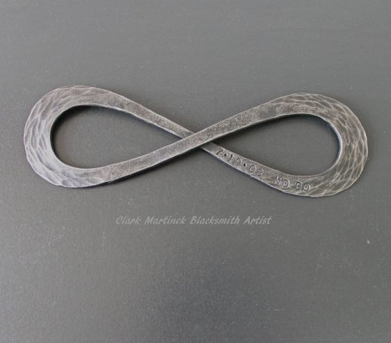 Infinity Symbol Love Knot Iron Anniversary Gift Steel