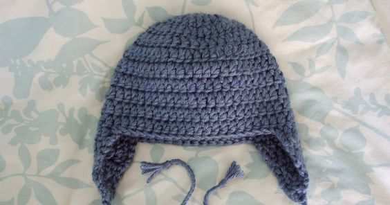 This hat is made with 2 strands of yarn together, to fit a19 in. head circumference. Below are links to earflap hat patterns in other siz...