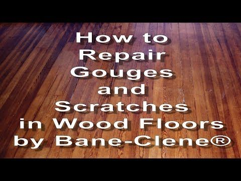How To Fix Gouges Dents And Deep Scratches In Hardwood Floors Youtube Laminate Flooring On Walls Flooring White Wood Floors