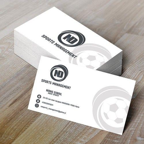 Sports Style Management Bonjour Je Suis Agent Sportif Dans Le Football Le Basket Et Le Rugby Mon Business Card Design Custom Business Cards Management Styles