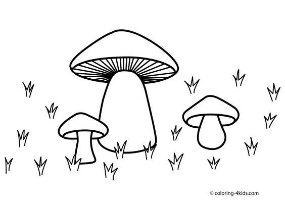 mushroom nature coloring page for kids printable free coloring pages pinterest kid. Black Bedroom Furniture Sets. Home Design Ideas