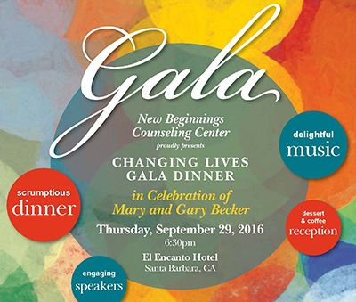 New Beginnings Counseling Center honors Mary & Gary Becker on Sept. 29. http://sbseasons.com/datebook/new-beginnings-changing-lives-gala-in-honor-of-gary-and-mary-becker/ #sbseasons #sb #santabarbara #SBSeasonsMagazine #SBnonprofits #MaryandGaryBecker #NewBeginningsCounselingCenter To subscribe visit sbseasons.com/subscribe.html
