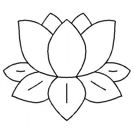 Motif De 12 7cm Modele Fleur De Nenuphar Flower Coloring Pages