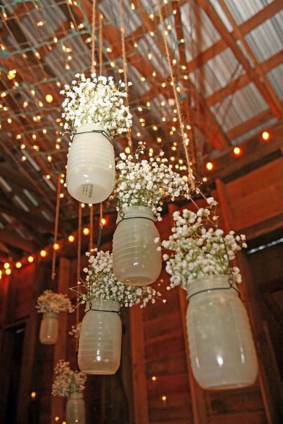 Rustic Wedding Mason Jar Decor Ideas