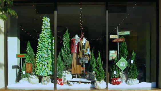 Anthropologie Christmas Window Displays | ANTHROPOLOGIE CHRISTMAS WINDOW…