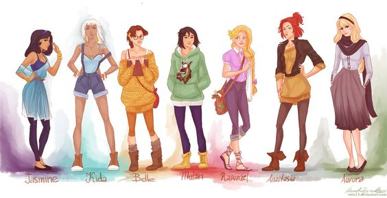 hipster princesses. I really am Belle incarnate