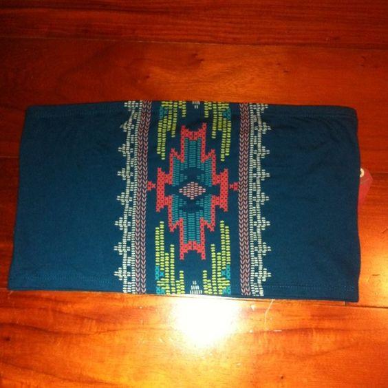 Tribal/Aztec bandeau top Cute design! Tops