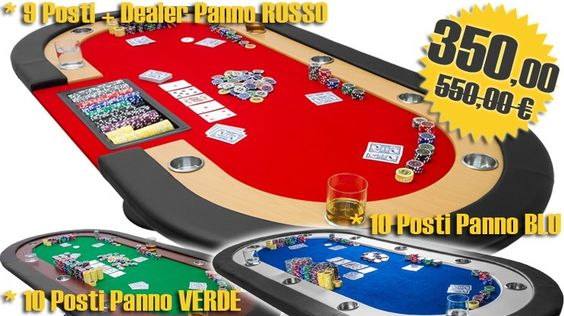 Tavolo da Poker Modello Las Vegas 10 Posti