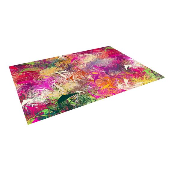 """Danny Ivan """"Splash"""" Rainbow Abstract Indoor / Outdoor Floor Mat"""