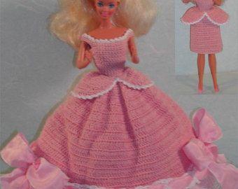 Häkeln Sie Mode Puppe Barbie Pattern 212 von JudysDollPatterns