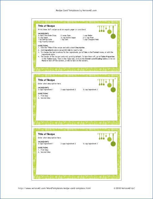 Free Recipe Card Templates For Word Delectable James Blackwell Blackwell0199 On Pinterest