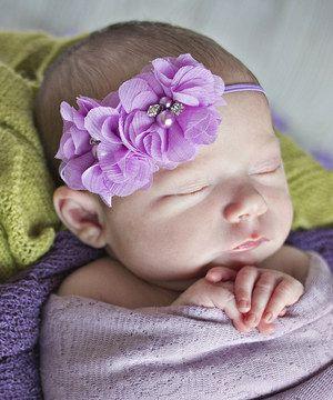 My Sunshine Shoppe Lavender Flower Headband by My Sunshine Shoppe #zulily #zulilyfinds