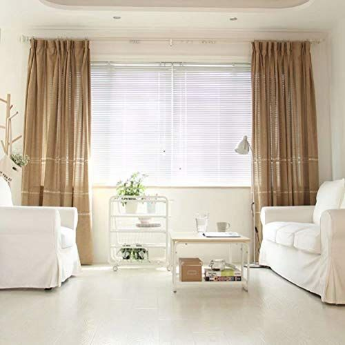 Leadtimes Embroidered Natural Linen Curtains For Bedroom 102 Inch