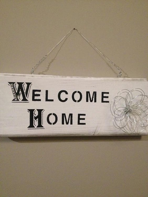 Welcome Home Wooden reclaimed wood hanging by HumbleAbodeDecor