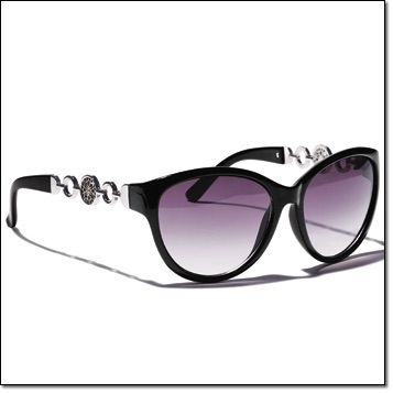 Avon's exclusive Signature Collection Chain-Linked Sunglasses~ Ultra-glam sunglasses with UV protection and silvertone logo detail on temples. Pouch included. http://jgoertzen.avonrepresentative.com/