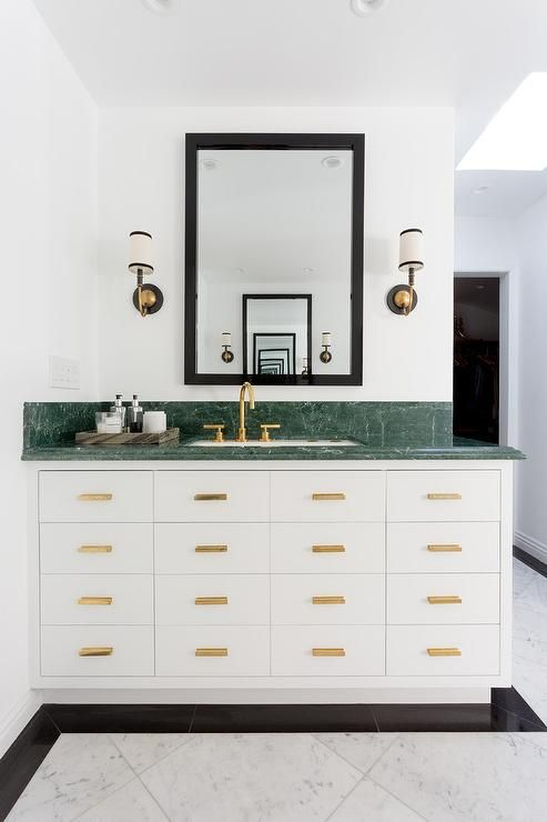 Marbled Green and White Brass Collection