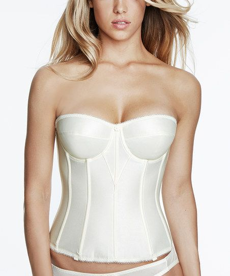 Ivory Juliette Strapless Corset - Plus Too