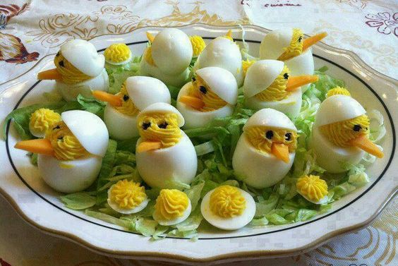 Super cute Easter deviled eggs!