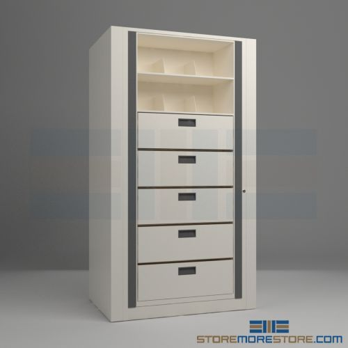 Rotating File Cabinet With 5 Legal Drawers And 2 Shelves Per Side Filing Cabinet Office Storage Furniture Drawers