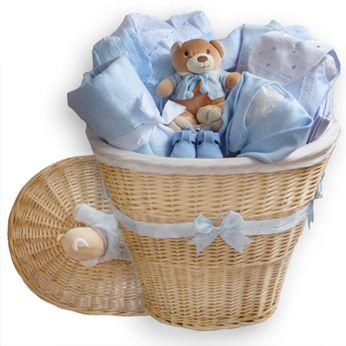 CANASTILLA PARA BEBE EL BAUL DE LA TERNURA GRANDE. Cesta personalizada para bebé. Canastilla personalizada para recién nacido. Cesta para regalo de bebés.